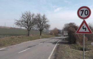 Úsek cesty Senica - Kúnov